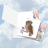 Creative Birthday Square-Top Card From NobleWorksInc.com - Funky Rainbow Wildlife-Owl From Us