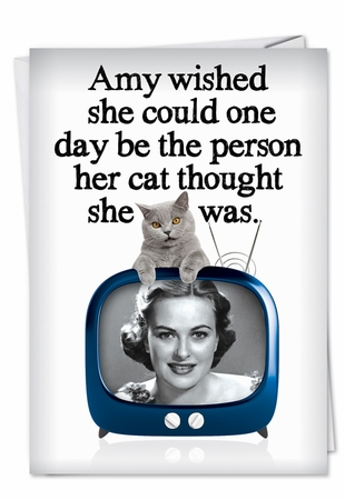 Humorous Birthday Card From NobleWorksInc.com - Purrrfect Person