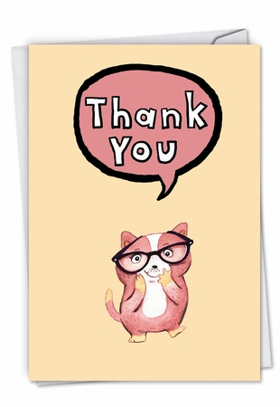 Artistic Thank You Card From NobleWorksInc.com - Fuzzy Tummies