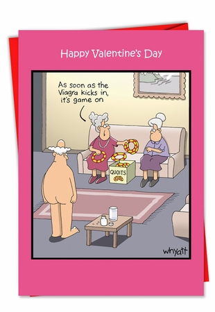 Hilarious Valentine's Day Card From NobleWorksInc.com - Game On