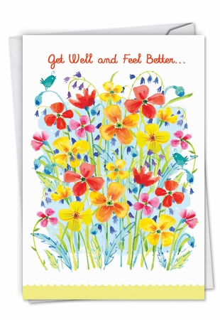 Artistic Get Well Card From NobleWorksInc.com - Garden Delights
