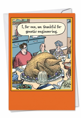 Humorous Thanksgiving Card From NobleWorksInc.com - Genetic Engineering