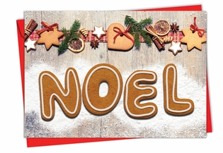 Beautiful Blank Christmas Card From NobleWorksInc.com - Gingerbread Messages
