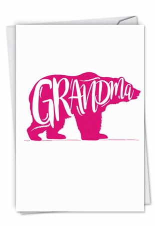 Beautiful Mother's Day Grandma Card From NobleWorksInc.com - Grandma Bear