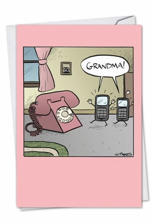 Hysterical Mother's Day Card From NobleWorksInc.com - Grandma Phone