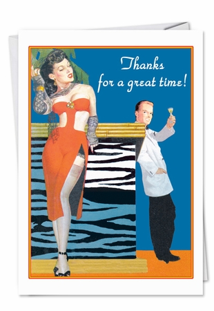 Hysterical Thank You Card From NobleWorksInc.com - Great Time