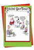 Humorous Blank Christmas Card From NobleWorksInc.com - Group Therapy