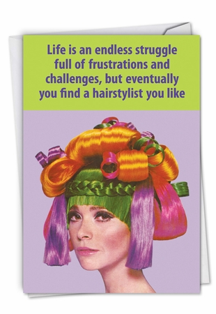 Hysterical Thank You Card From NobleWorksInc.com - Hair Stylist