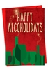 Hilarious Blank Christmas Card From NobleWorksInc.com - Happy Alcoholidays