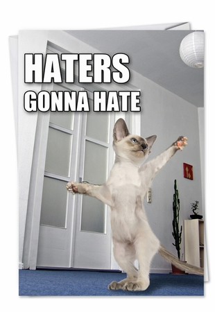 Funny Birthday Card From NobleWorksInc.com - Haters