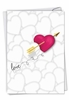 Artful Valentine's Day Card From NobleWorksInc.com - Heart and Arrow