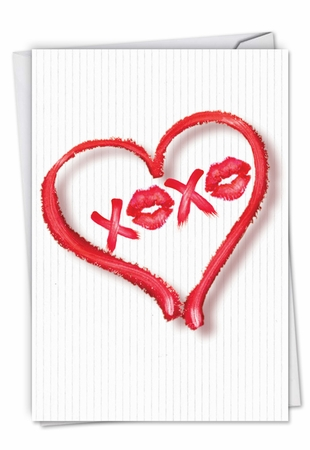 Artistic Valentine's Day Card From NobleWorksInc.com - Heart XOXO