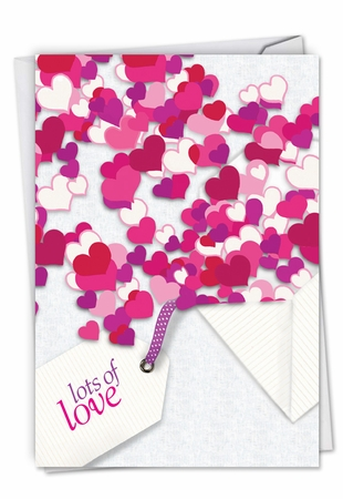 Beautiful Valentine's Day Card From NobleWorksInc.com - Hearts In Envelope