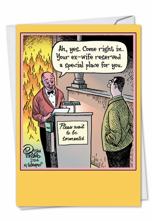 Hysterical Divorce Card From NobleWorksInc.com - Hell Reservation