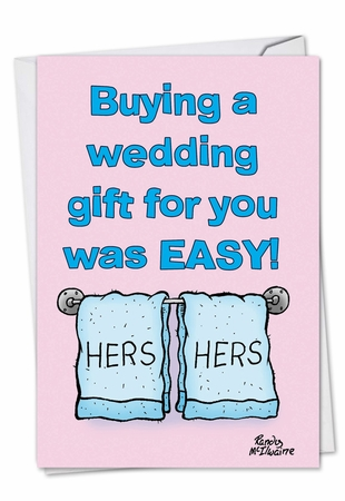 Funny Birthday Card From NobleWorksInc.com - Hers And Hers Gay Wedding