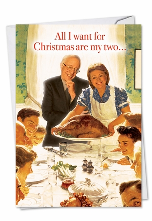 Hysterical Christmas Card From NobleWorksInc.com - Hillary and Bernie Two Best Front Runners