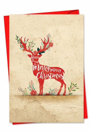 Artistic Christmas Card From NobleWorksInc.com - Holiday Knockout