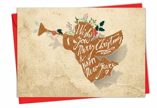 Artful Christmas Card From NobleWorksInc.com - Holiday Knockout