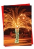 Artful Christmas Card From NobleWorksInc.com - Holiday Palms
