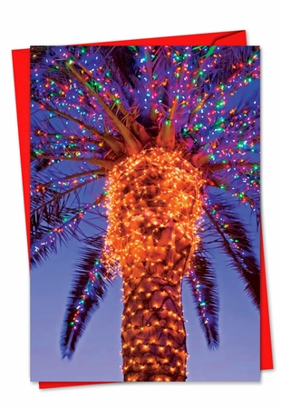 Beautiful Christmas Card From NobleWorksInc.com - Holiday Palms