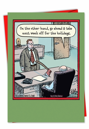 Funny Christmas Card From NobleWorksInc.com - Holiday Week Off