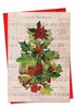 Artistic Christmas Card From NobleWorksInc.com - Holly Notes