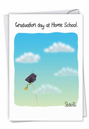 Funny Graduation Card From NobleWorksInc.com - Home School