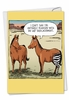 Humorous Get Well Card From NobleWorksInc.com - Horse Hip Replacement