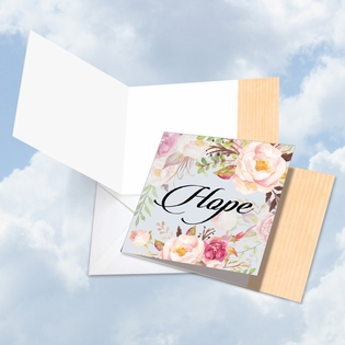 Beautiful Blank Square-Top Card From NobleWorksInc.com - In a Word - Hope