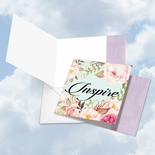 Beautiful Blank Square-Top Card From NobleWorksInc.com - In a Word - Inspire