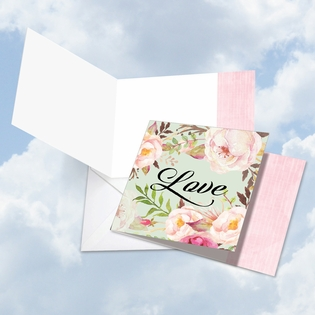 Beautiful Blank Square-Top Card From NobleWorksInc.com - In a Word - Love
