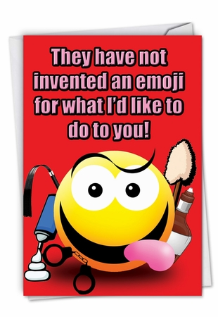 Hilarious Valentine's Day Card From NobleWorksInc.com - Invented an Emoji