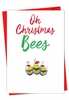 Artistic Merry Christmas Card From NobleWorksInc.com - It Was The Pun Before Christmas - Bees