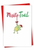Artistic Merry Christmas Card From NobleWorksInc.com - It Was The Pun Before Christmas - Frog