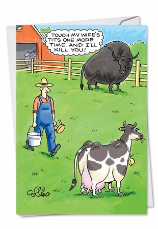 Hysterical Birthday Card From NobleWorksInc.com - Jealous Bull