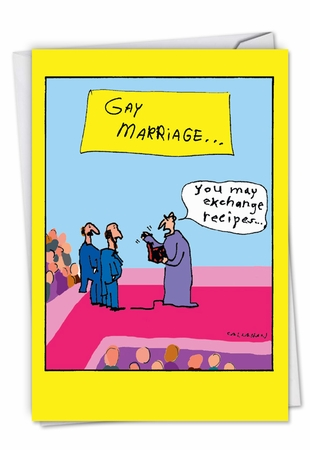 Hilarious Wedding Congratulations Card From NobleWorksInc.com - John Callahan's Gay Marriage Exchange