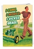 Hilarious Father's Day Card From NobleWorksInc.com - Kick Grass