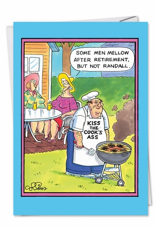 Humorous Birthday Card From NobleWorksInc.com - Kiss the Cook