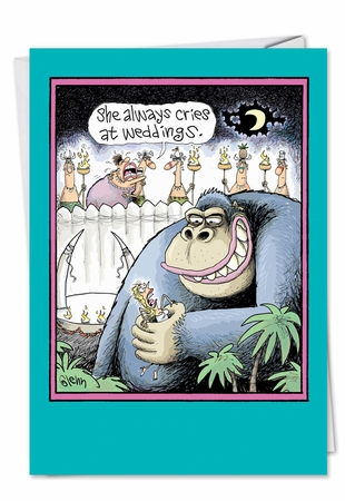 Humorous Congratulations Card From NobleWorksInc.com - Kong Wedding