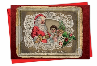 Artistic Christmas Card From NobleWorksInc.com - Lacy Holidays