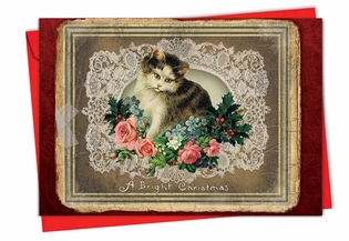 Beautiful Christmas Card From NobleWorksInc.com - Lacy Holidays
