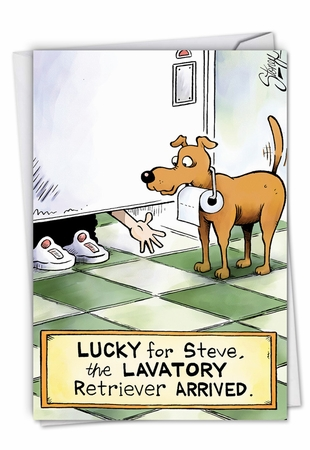 Hysterical Thank You Card From NobleWorksInc.com - Lavatory Retriever