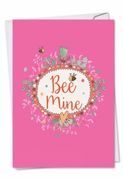Let It Bee Valentine's Day Card by NobleWorks