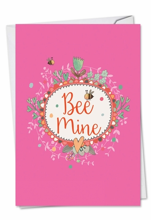 Artful Valentine's Day Card From NobleWorksInc.com - Let It Bee