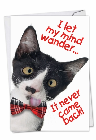 Humorous Birthday Card From NobleWorksInc.com - Let My Mind Wander