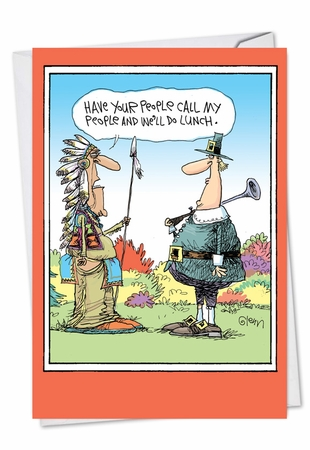 Funny Thanksgiving Card From NobleWorksInc.com - Let's Do Lunch