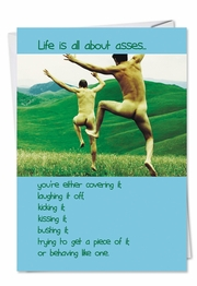 Life is All About Asses Poem Birthday Card