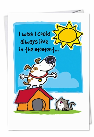 Humorous Birthday Card From NobleWorksInc.com - Live in the Moment