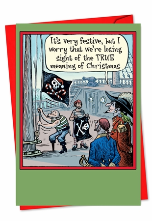 Humorous Christmas Card From NobleWorksInc.com - Losing Sight