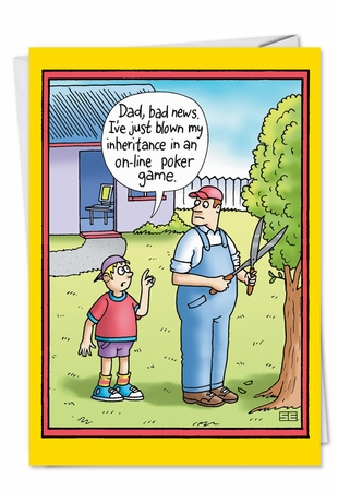 Funny Birthday Father Card From NobleWorksInc.com - Lost Inheritance